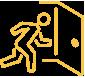 Fluchtpläne Rettungspläne Icon